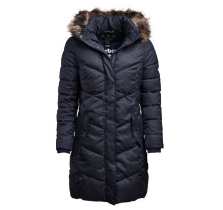 Barbour Sternway Quilted Long Length Jacket Navy Marl/Navy