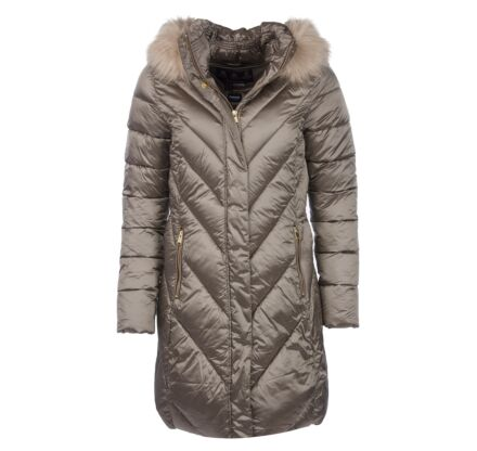 Barbour Reesdale Quilted Long Length Jacket Mink