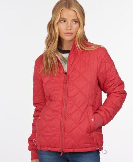 Barbour Southport Quilted Jacket Ocean Red/Blusher