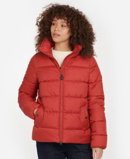 Barbour Dune Quilted Jacket Flame Red
