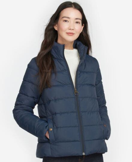 Barbour Hinton Quilted Jacket Navy