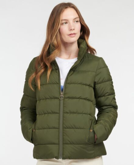 Barbour Hinton Quilted Jacket Olive