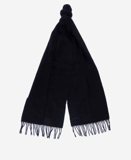 Barbour Lambswool Woven Scarf Black