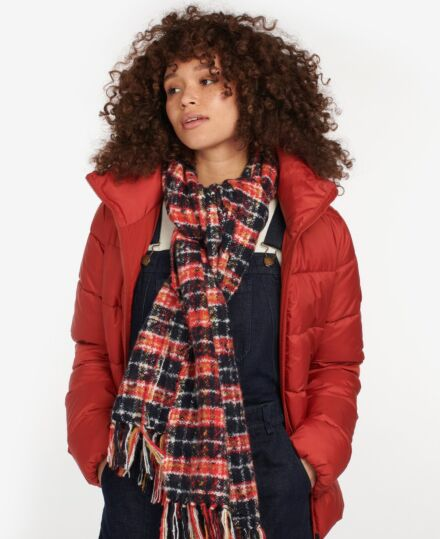 Barbour Ingham Boucle Scarf Navy/Red