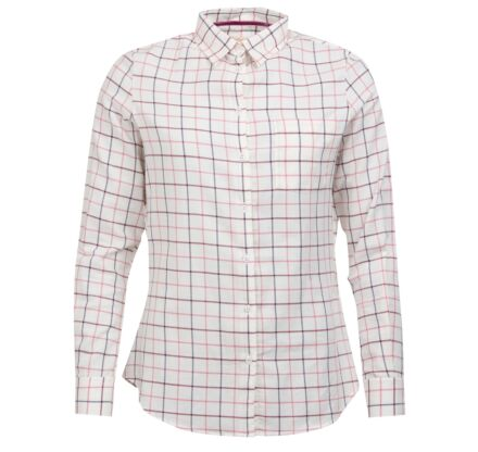 Barbour Triplebar Check Shirt Aster Pink Check