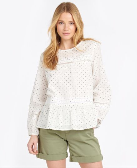 Barbour Bayside Top White