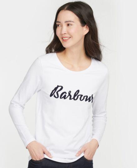 Barbour Rebecca Long Sleeve T-Shirt White/Navy