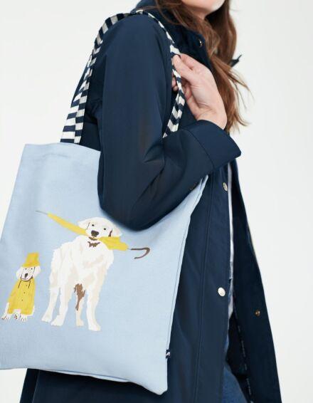 Joules Lulu Shopper Blue Umbrella Dogs