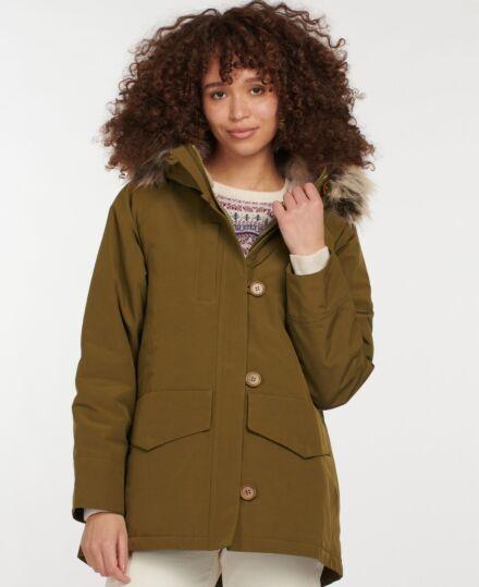 Barbour Warkworth Jacket Nori Green/Dusky Green