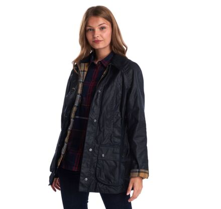 Barbour Beadnell Wax Jacket Navy