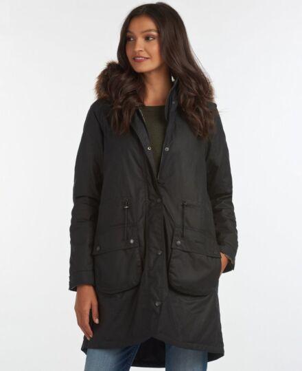 Barbour Mull Waxed Jacket Navy/Dress Tartan