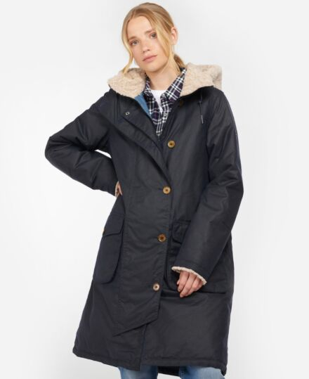 Barbour Peregrine Waxed Jacket Royal Navy