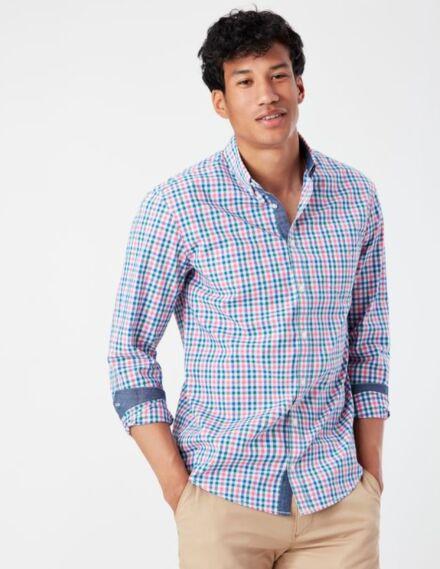 Joules Lyndhurst Shirt Blue Pink Gingham