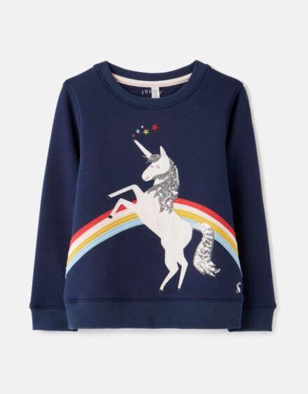 Joules Mackenzie Artwork Sweatshirt Unicorn