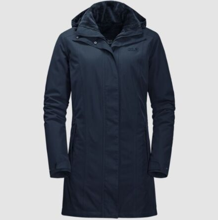 Jack Wolfskin Women's Madison Avenue Coat Midnight Blue