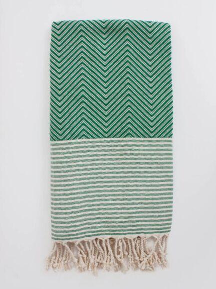 Bohemia Design Malibu Hammam Towel Green