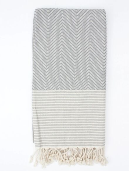 Bohemia Design Malibu Hammam Towel Grey