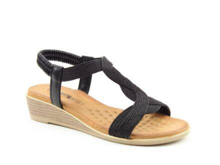 Heavenly Feet Marisol Sandals Black