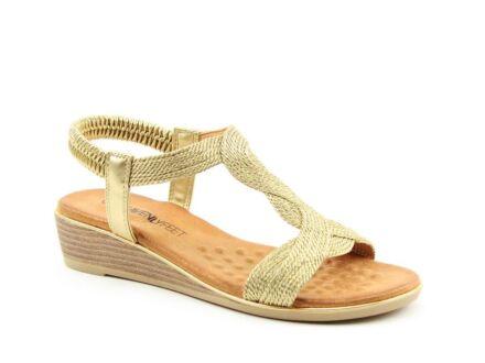Heavenly Feet Marisol Sandals Gold