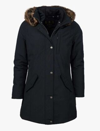Barbour Maya Waterproof Jacket Washed Black