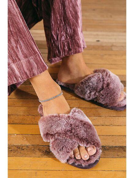 Emu Australia Mayberry Frost Doubleface Sheepskin Slippers Burnt Rust
