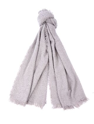Barbour Megan Boucle Wrap Scarf Grey