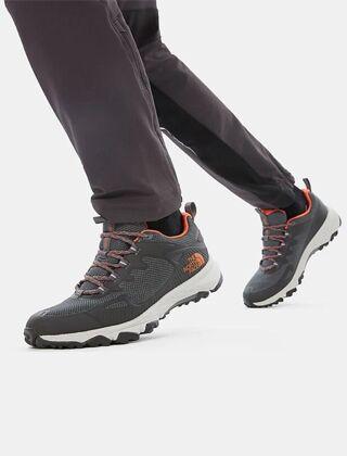 The North Face Men's Ultra FastPack IV FutureLight Shoes Grey/Orange