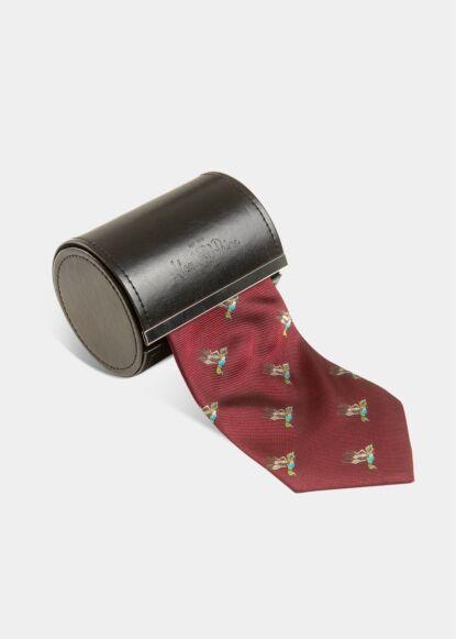 Alan Paine Ripon Silk Tie Bordeaux