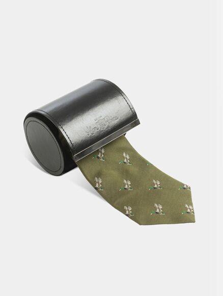 Alan Paine Ripon Silk Tie Olive