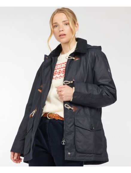 Barbour Merlin Waxed Jacket Royal Navy