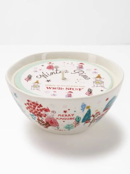 White Stuff Merry XMouse Bowl Candle