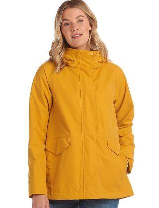 Barbour Mersey Waterproof Jacket Ochre