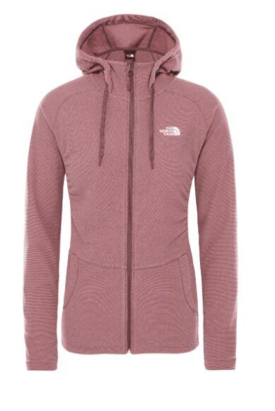 The North Face Women's Mezzaluna Full Zip Hoodie Mesa Rose Stripe