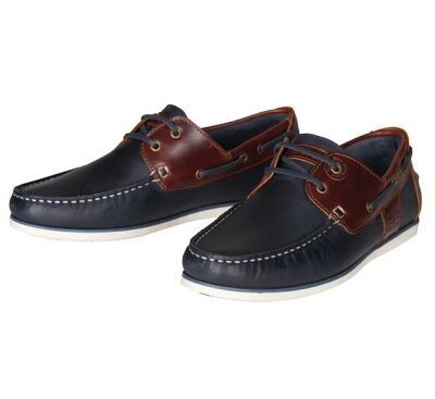 Barbour Capstan Boat Shoes Navy