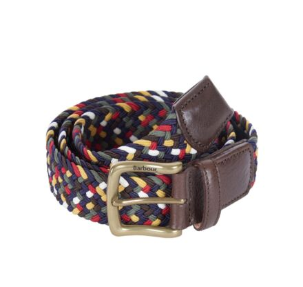 Barbour Tartan Coloured Stretch Belt Gift Box Classic