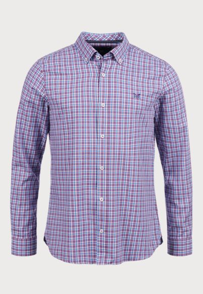Crew Clothing Million Pinpoint Shirt Lavender