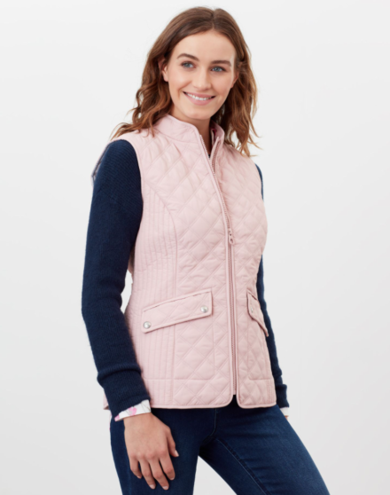 Joules Minx Quilted Gilet Pink