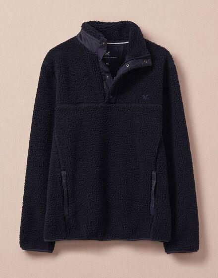 Crew Clothing Men's Oulton 1/2 Zip Fleece Dark Navy