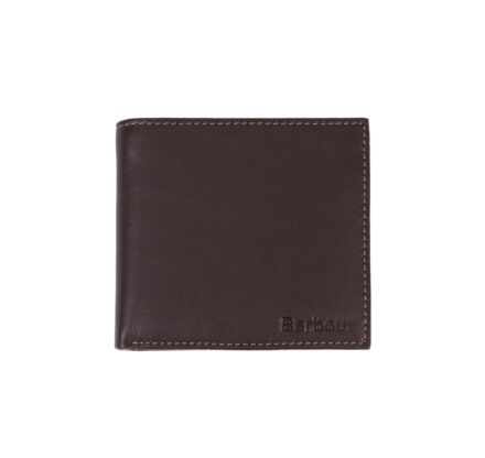 Barbour Elvington Leather Bifold Wallet Brown/Tan