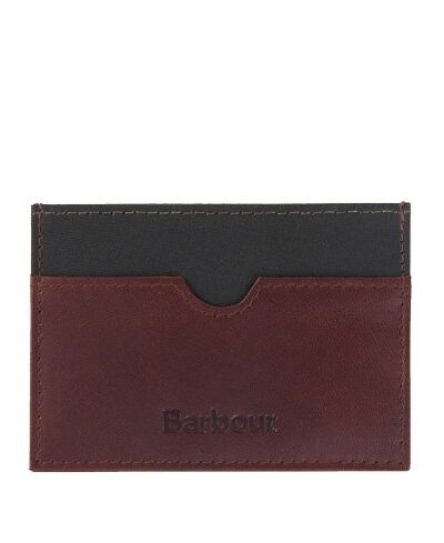 Barbour Wax/Leather Cardholder Brown