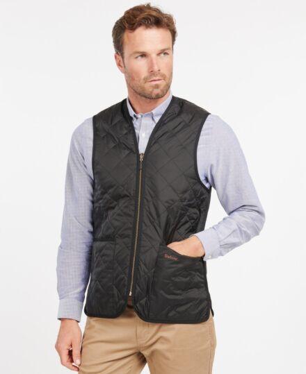 Barbour Quilted Waistcoat Zip-In Liner Black/Modern Tartan