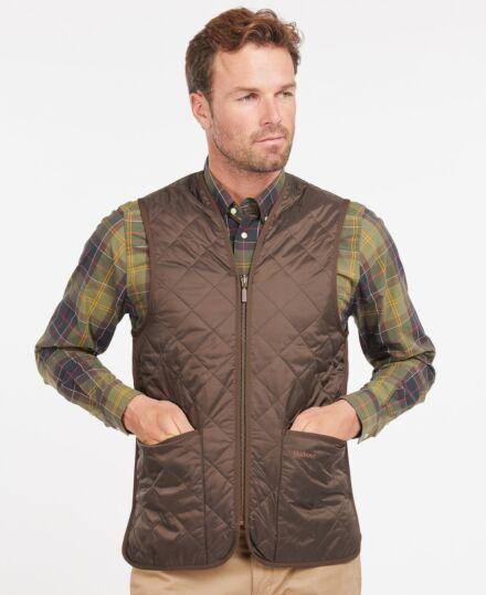 Barbour Quilted Waistcoat Zip-In Liner Rustic