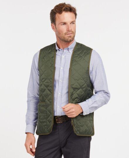Barbour Quilted Waistcoat Zip-In Liner Olive/Ancient Tartan