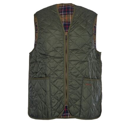 Barbour Quilted Waistcoat Zip-In Liner Olive/Classic