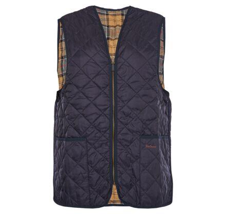 Barbour Quilted Waistcoat Zip-In Liner Navy/Dress Tartan