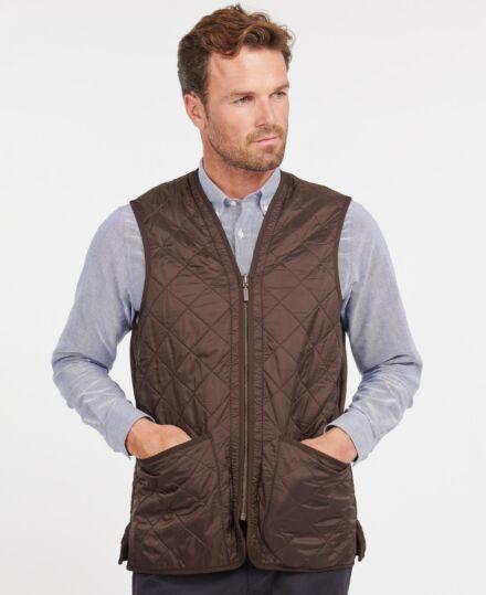 Barbour Polarquilt Waistcoat Zip-In Liner Dark Brown