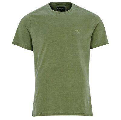 Barbour Garment Dyed T-Shirt Light Moss