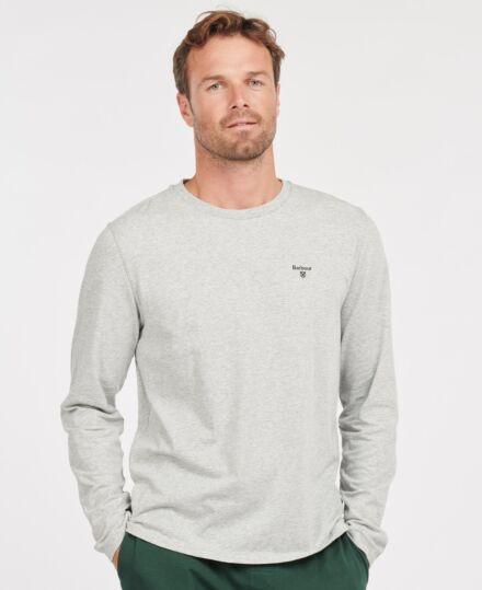 Barbour Sheldon Long Sleeve T-Shirt Light Grey Marl