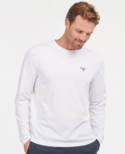 Barbour Men's Sheldon Long Sleeve T-Shirt White