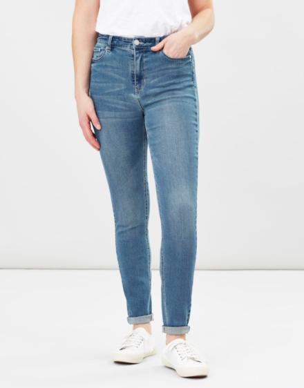 Joules Monroe High Rise Skinny Jeans Light Denim